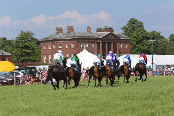 Racing in front of Tabley House Knutsford Races